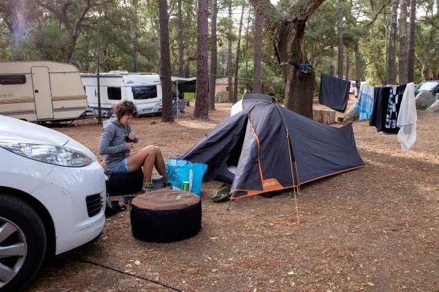 Matin camping